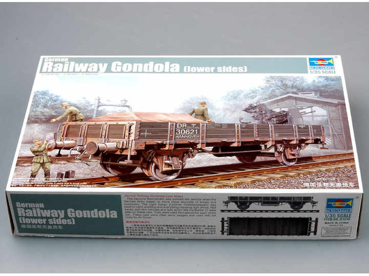 Trumpeter German Railway Gondola (lower sides) Scale 1/35 01518