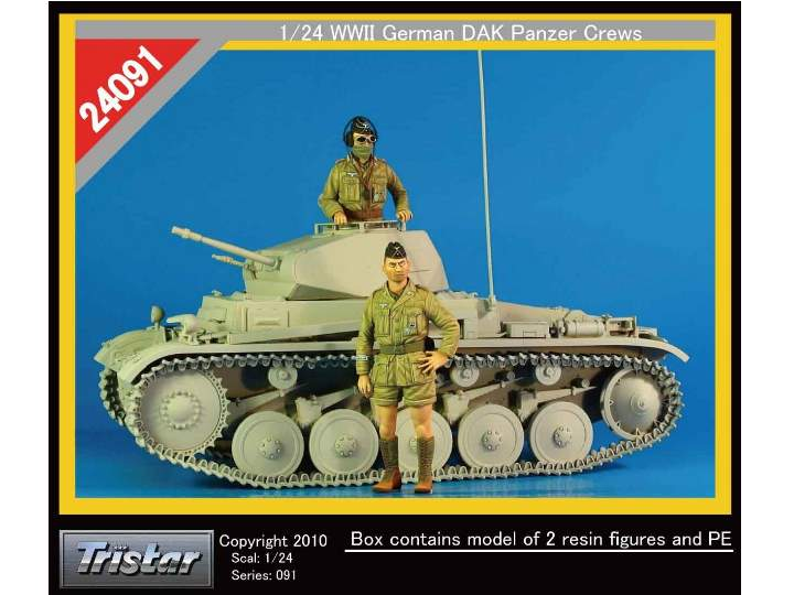 Tristar 1/24 24091 WWII German DAK Panzer Crew (2 figures and PE parts)