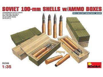 Miniart 1/35 35088 Soviet 100mm Shells with Ammo Boxes
