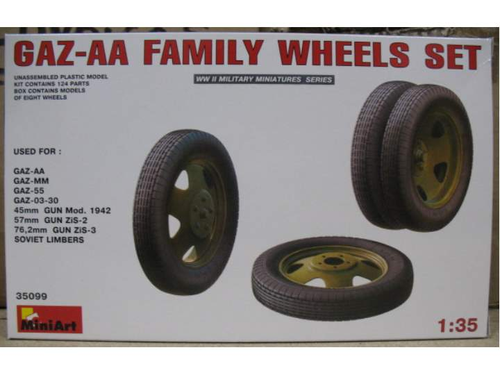 Miniart 1/35 35099 GAZ-AA Family Wheels Set