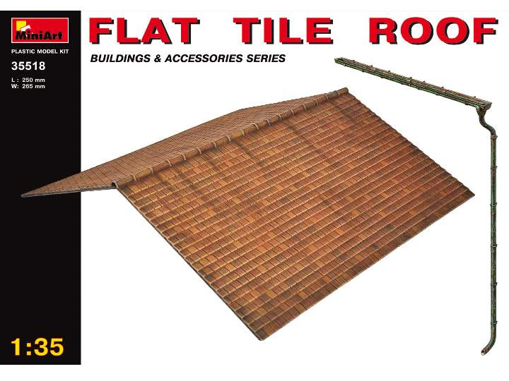 Miniart 1/35 35518 Flat Tile Roof