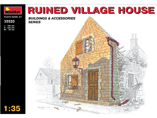 Miniart 1/35 35520 Ruined Village House