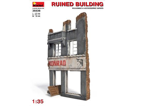 Miniart 1/35 35536 Ruined Building