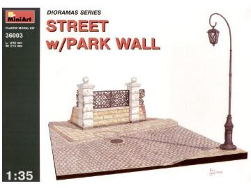 Miniart 1/35 36003 Street with Park Wall