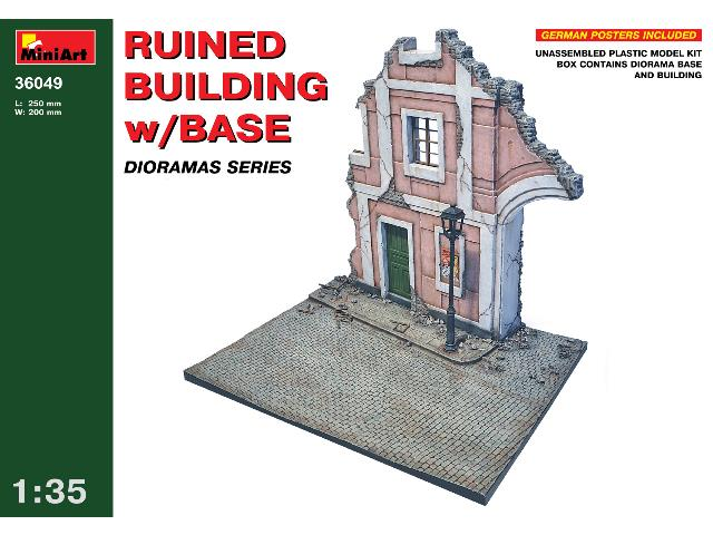 Miniart 1/35 36049 Ruined Building with Base