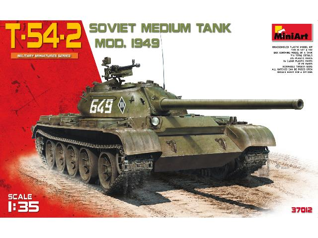 Miniart 1/35 37012 T-54-2 Soviet Medium Tank. Mod 1949