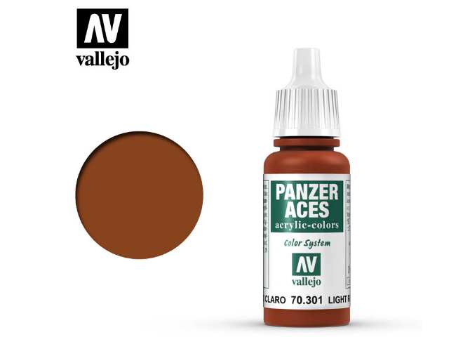 Vallejo 17ml 301 Panzer Aces - 301 Light Rust