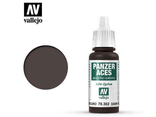 Vallejo 17ml 302 Panzer Aces - 302 Dark Rust