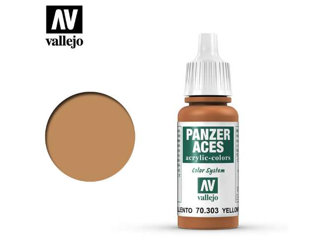 Vallejo 17ml 303 Panzer Aces - 303 Yellowish Rust