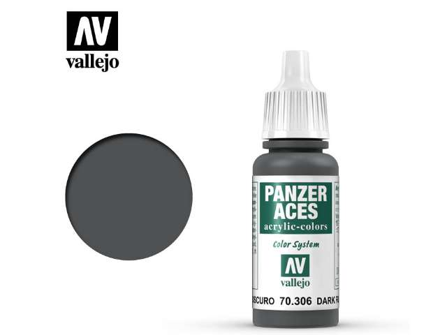 Vallejo 17ml 306 Panzer Aces - 306 Dark Rubber
