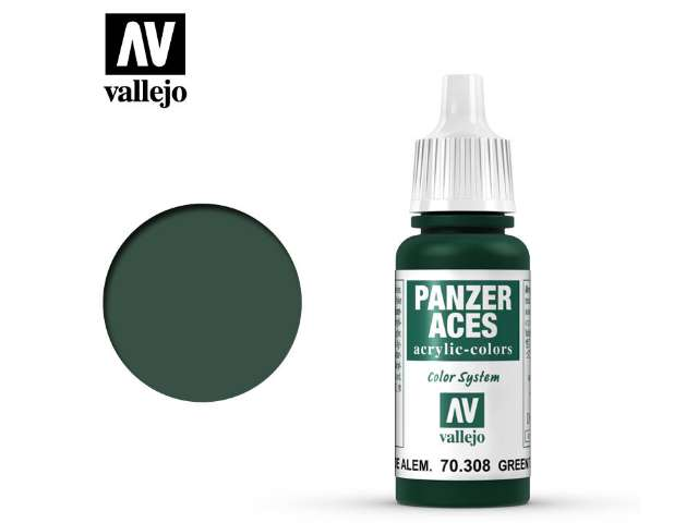 Vallejo 17ml 308 Panzer Aces - 308 Green Tail Light