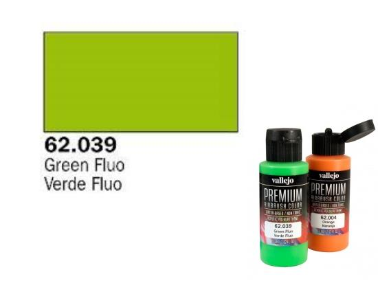 Vallejo 60ml Premium Colour 039 Fluorescent Green 62039