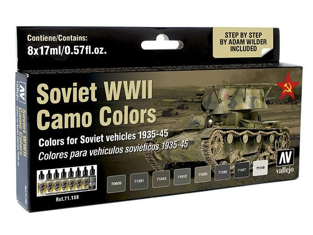 Vallejo 8 x 17ml 71188 Model Air Set - Soviet WWII Camo Colours