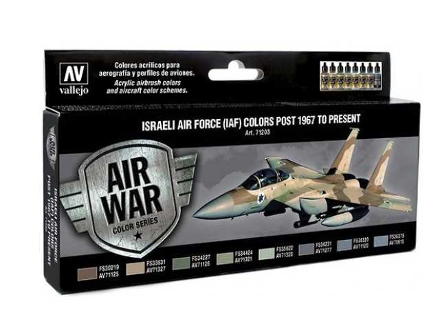 Vallejo 17ml x 8 71203 Model Air Set - Israeli AF 1967 to Present