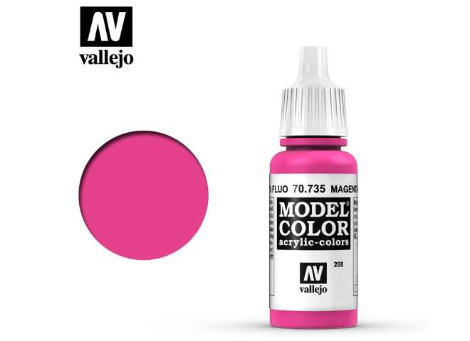 Vallejo 17ml 735 208 Model Color - Fluorescent Magenta 735