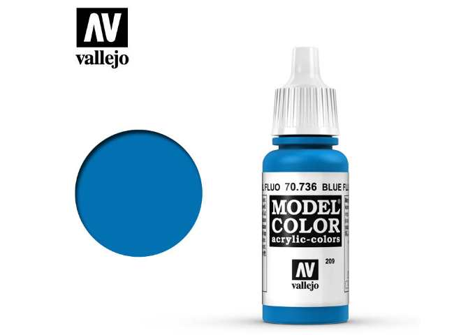 Vallejo 17ml 736 209 Model Color - Fluorescent Blue 736