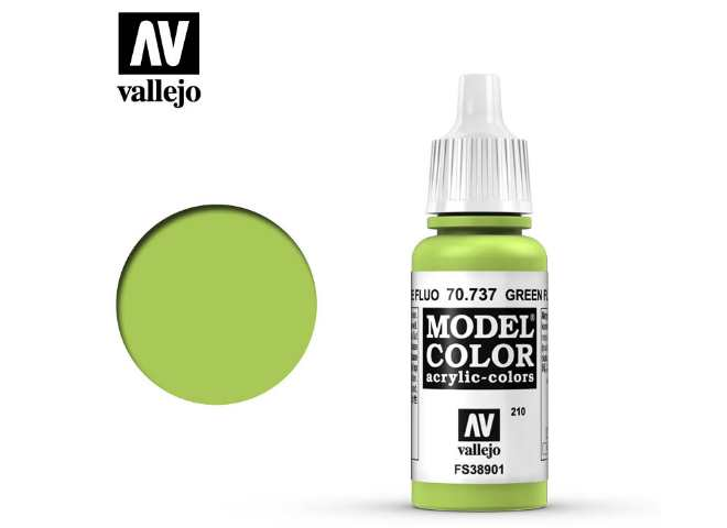 Vallejo 17ml 737 210 Model Color - Fluorescent Green 737
