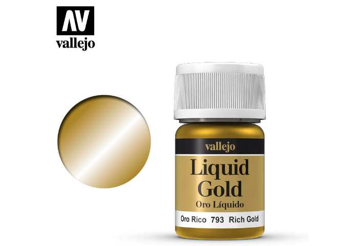 Vallejo 35ml 793 214 Model Color - Metallic Rich Gold