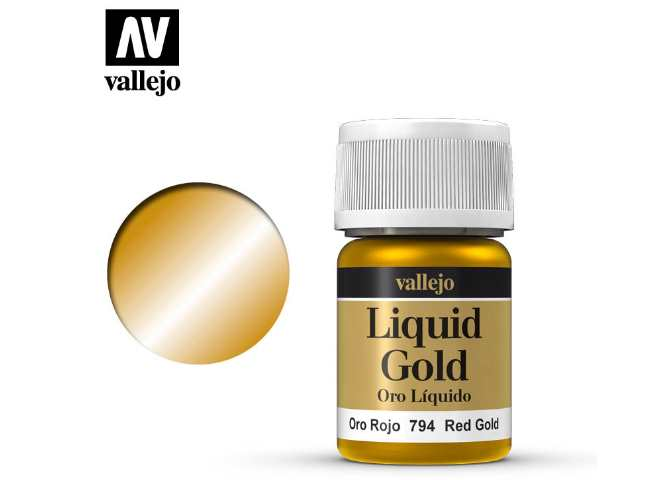 Vallejo 35ml 794 215 Model Color - Metallic Red Gold 794
