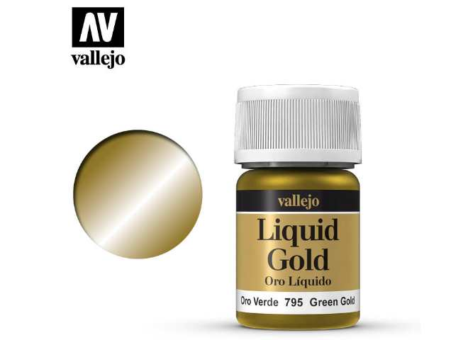 Vallejo 35ml 795 216 Model Color - Metallic Green Gold 795