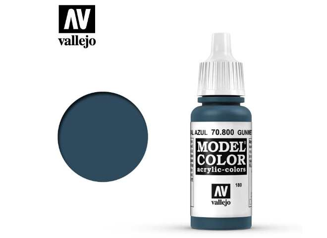 Vallejo 17ml 800 180 Model Color - Gunmetal Blue 800