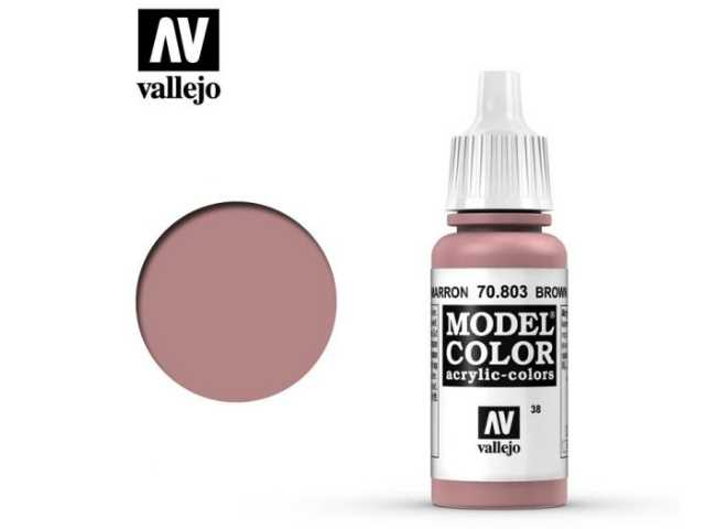 Vallejo 17ml 803 038 Model Color - Brown Rose 803
