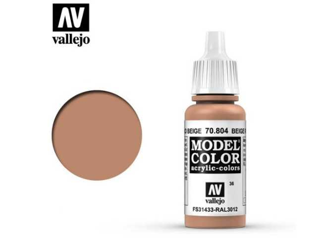 Vallejo 17ml 804 036 Model Color - Beige Red 804