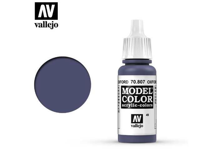 Vallejo 17ml 807 049 Model Color - Oxford Blue 807