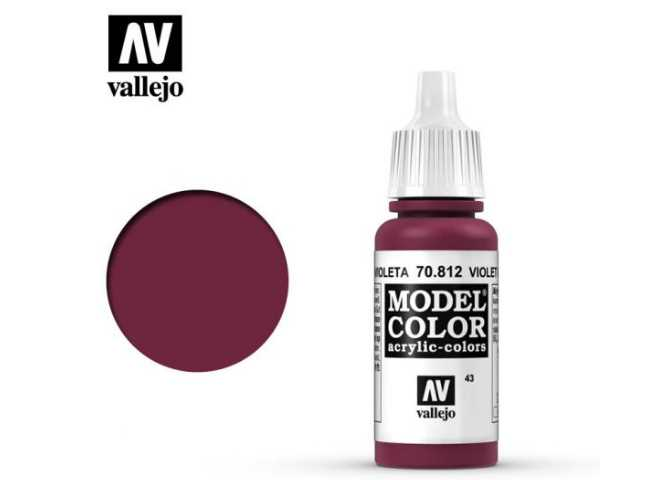 Vallejo 17ml 812 043 Model Color - Violet Red 812
