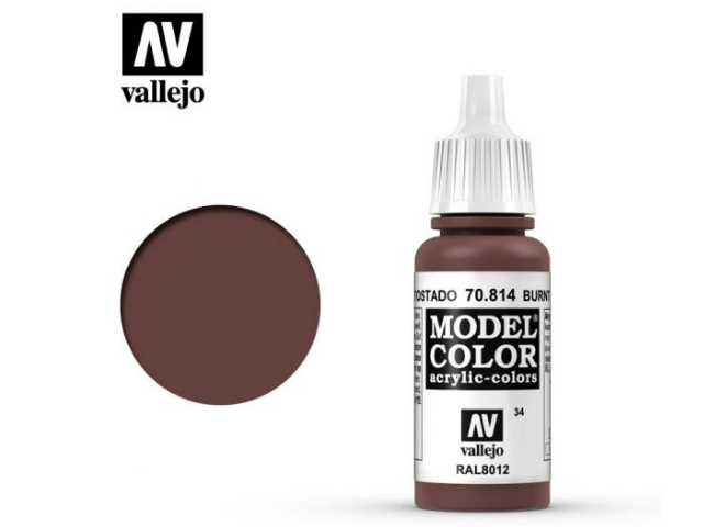 Vallejo 17ml 814 034 Model Color - Burnt Cadmium Red 814