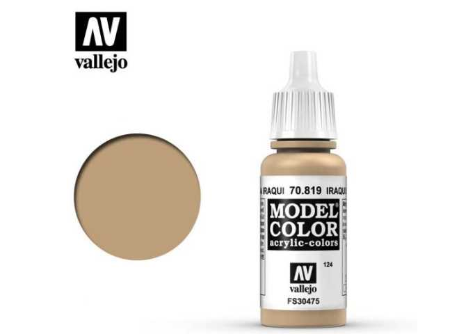 Vallejo 17ml 819 124 Model Color - Iraqi sand 819