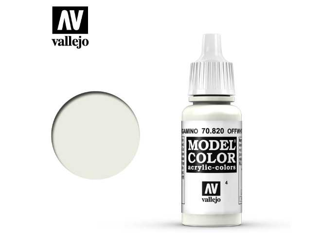 Vallejo 17ml 820 004 Model Color - Off White 820