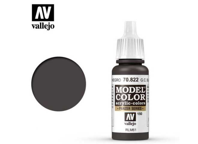 Vallejo 17ml 822 150 Model Color - German Cam Black Brown 822