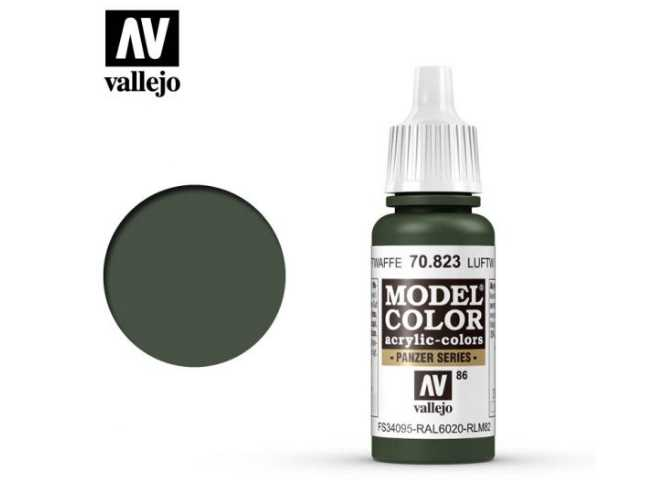 Vallejo 17ml 823 086 Model Color - Luftwaffe Cam Green 823