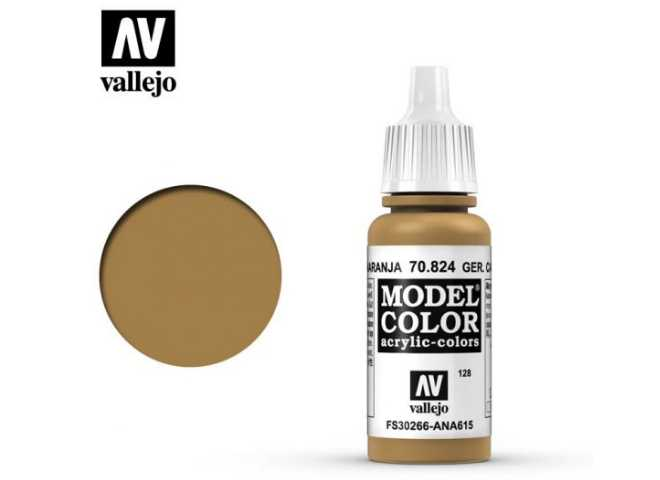 Vallejo 17ml 824 128 Model Color - German Cam Orange Ochre 824