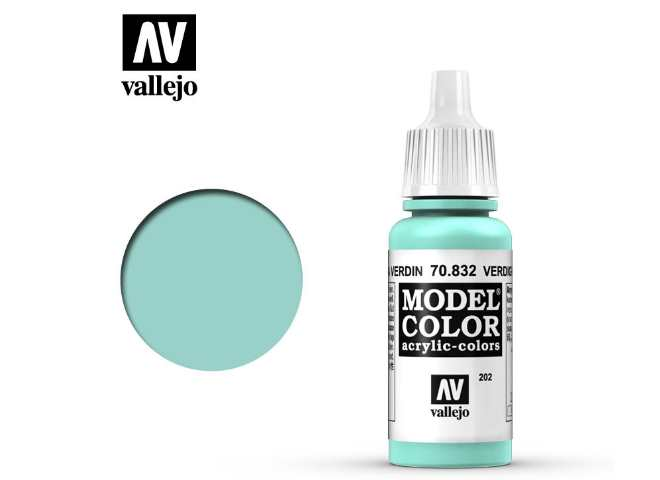 Vallejo 17ml 832 202 Model Color - Verdigris Glaze 832