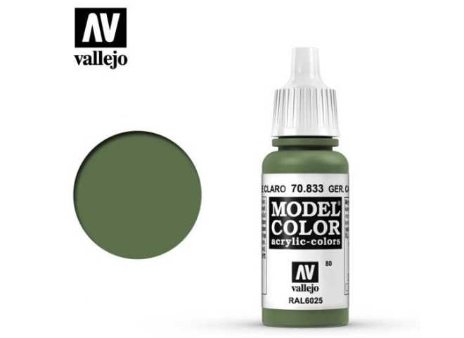 Vallejo 17ml 833 080 Model Color - German Cam bright Green 833