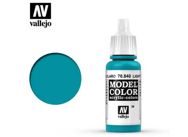 Vallejo 17ml 840 068 Model Color - Light Turquoise 840