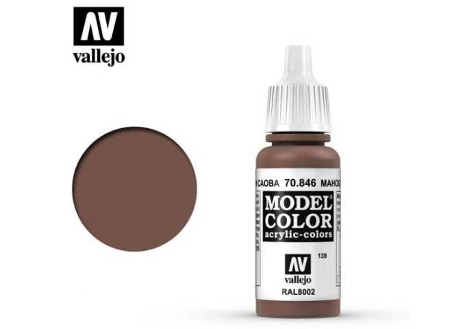 Vallejo 17ml 846 139 Model Color - Mahogany brown 846