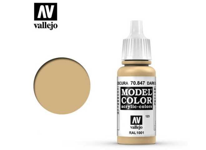 Vallejo 17ml 847 123 Model Color - Dark Sand 847