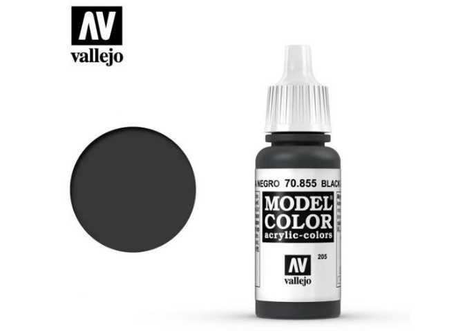 Vallejo 17ml 855 205 Model Color - Black Glaze 855