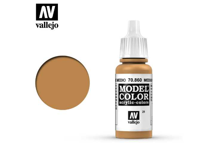 Vallejo 17ml 860 021 Model Color - Medium Fleshtone 860