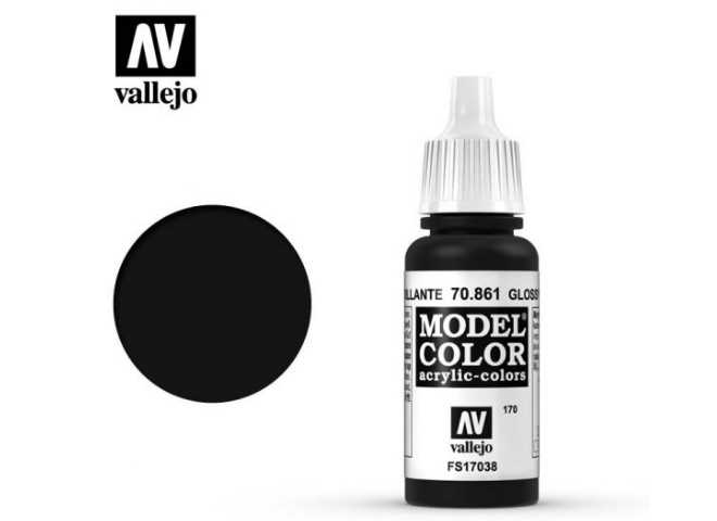 Vallejo 17ml 861 170 Model Color - Glossy Black 861