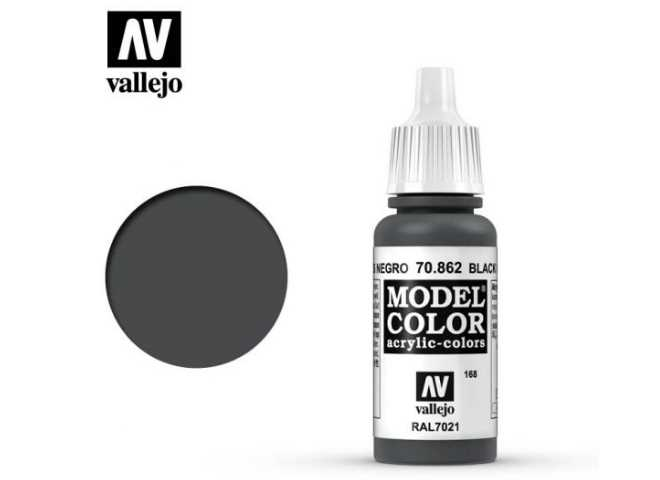 Vallejo 17ml 862 168 Model Color - Black Grey 862