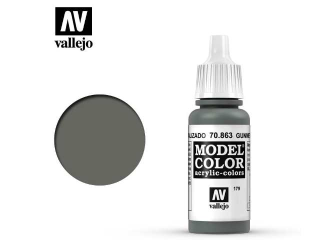 Vallejo 17ml 863 179 Model Color - Gunmetal Grey 863