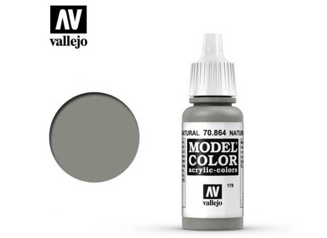 Vallejo 17ml 864 178 Model Color - Natural Steel 864