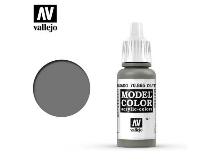 Vallejo 17ml 865 177 Model Color - Oily Steel 865