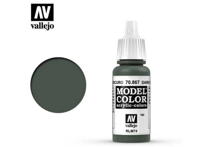 Vallejo 17ml 867 164 Model Color - Dark Bluegrey 867