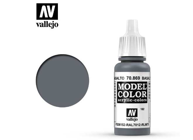Vallejo 17ml 869 162 Model Color - Basalt Grey 869