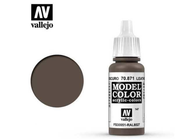 Vallejo 17ml 871 147 Model Color - Leather Brown 871